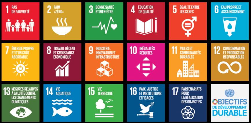17 objectifs de développement durable ODD